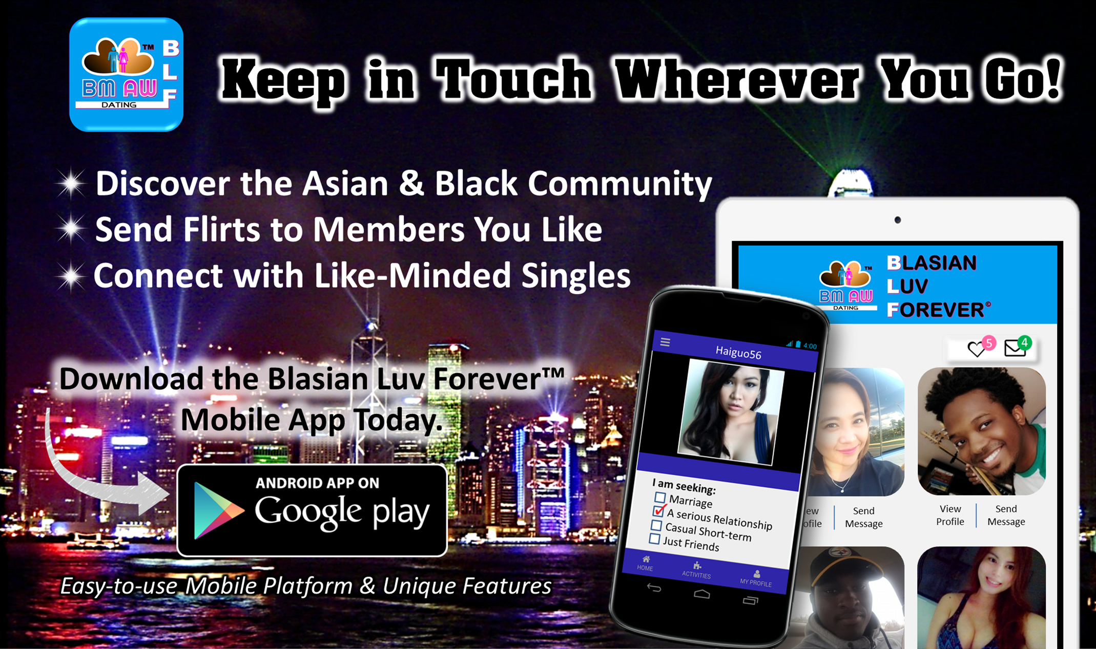 BMAW Dating App, Black and Asian Dating App, AWBM Dating App, Blasian Dating App, Asian Women Black Men Dating App, Black Men Asian Women Dating App, Asian and Black Dating App